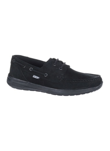 Scooter X1090 Nubuk Siyah Hakiki Deri Erkek Günlük Ayakkabı Siyah